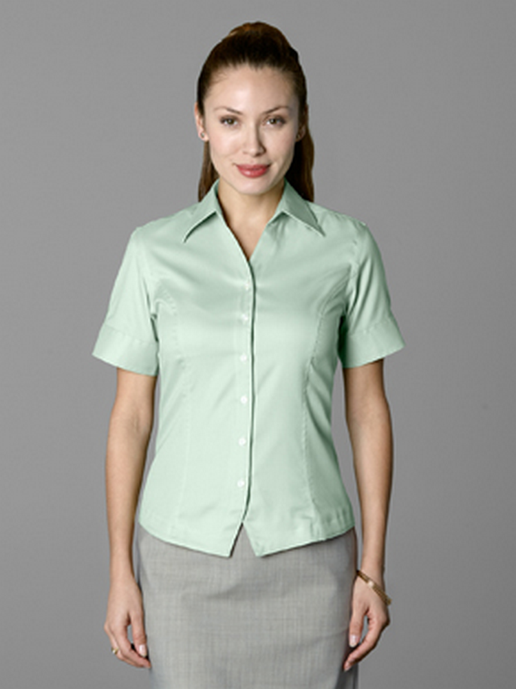 ROYAL OXFORD WESKIT SHORT SLEEVE BLOUSE